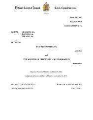 Federal Court of Appeal Cour d'appel fédérale - IPPractice