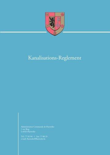 Kanalisations-Reglement - Flaxweiler