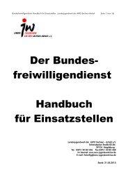 BFD Handbuch für Einsatzstellen vom Landesjugendwerk der AWO