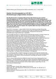 Zweites Verordnungspaket zur AP 2011 - Schweizerischer ...
