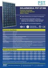 SOLARMODUL PST GT/M6 - Solar Energy