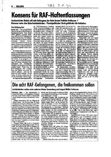 Presse zur Kinkel-Intitiative - Social History Portal