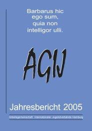Jahresbericht 2005 - AGIJ eV
