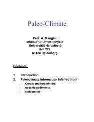 Paleo-Climate - Institut für Umweltphysik