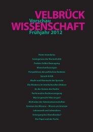 Vorschau Frühjahr 2012 - Velbrück Wissenschaft