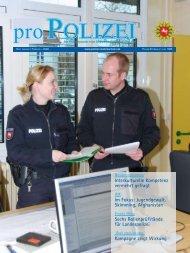 proPOLIZEI, Januar/Februar 2009 - Niedersächsisches Ministerium ...