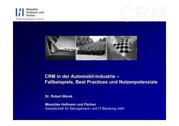 CRM in der Automobil-Industrie – Fallbeispiele, Best Practices und ...