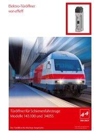 Türöffner für Schienenfahrzeuge Modelle 143.100 und 3405S ... - Ikon