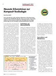 Artikel: Neueste Erkenntnisse zur Komposit-Toxikologie - Dental ...