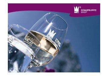 Weinkarte - Stubaier Gletscher