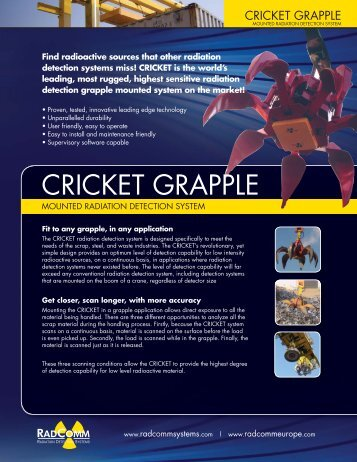 CRICKET GRAPPLE - RadComm Systems