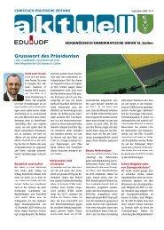 Impressum Grusswort des Präsidenten - EDU Schweiz