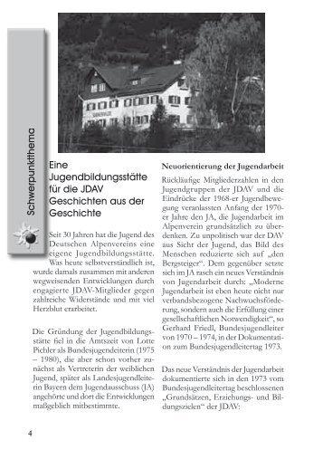 Entstehung - JDAV Bayern