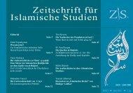 Zeitschrift für Islamische Studien