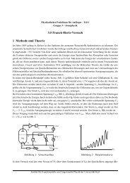 Franck-Hertz-Versuch - Institut für Experimentelle und Angewandte ...