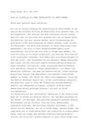 Eugen Blume, am 6. Mai 2006 Rede zur Eröffnung von ... - 7hours