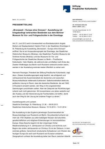 PRESSEMITTEILUNG - Staatliche Museen zu Berlin