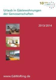 Urlaub in Gästewohnungen der Genossenschaften www.GäWoRing ...