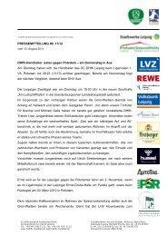 Pressemitteilung 8 - SC DHfK Leipzig eV