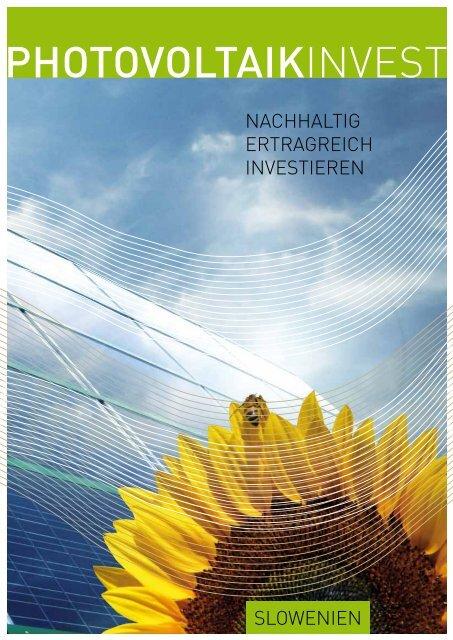 Broschüre zur Anleihe Slowenien - PV-Invest