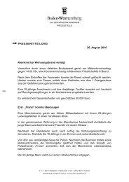 PRESSEMITTEILUNG 26. August 2010 Kleinkind bei ...
