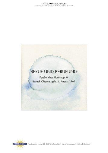 BERUF UND BERUFUNG - Astrodienst