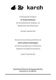 19. Herpeto-Kolloquium 19ème Colloque herpétologique - Karch