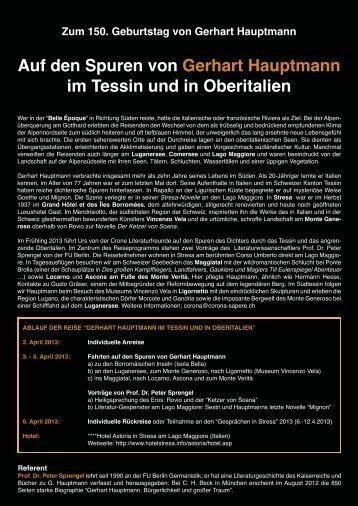 Plakat - Gerhart-Hauptmann-Gesellschaft eV, Berlin