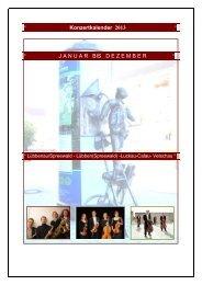 ° Konzertkalender 2013 ° - Stadt Lübbenau/Spreewald