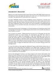 Jahresbericht - UHT TV Wohlen
