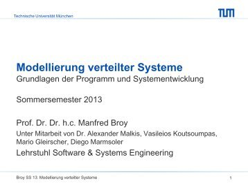 Programme als Zustandsübergangssysteme - Software and Systems ...