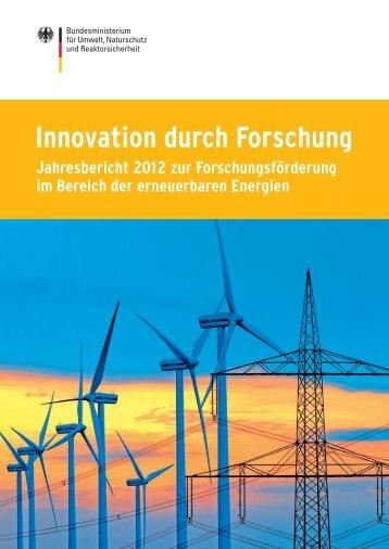 Innovation durch Forschung – Jahresbericht 2012 zur ... - BMU