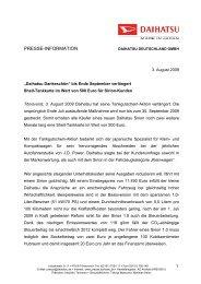 PRESSE-INFORMATION - Autohaus Henke