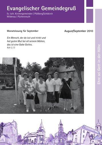 Gemeindegruß Aug/Sep 2010