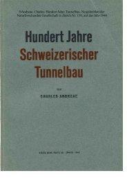 1 bAndreae, Charles: Hundert Jahre Tunnelbau, Neujahrsblatt der ...