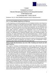 Protokoll: Fachgespräch zum Entwurf Nationaler Aktionsplan gegen ...