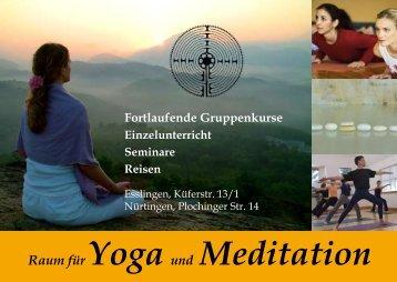 Fortlaufende Gruppenkurse - Raum für Yoga und Meditation