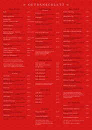 Getränkeblatt (pdf) - Manin Pasta und Grill Restaurant in St. Wendel