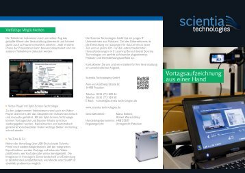Flyer - Scientia Technologies