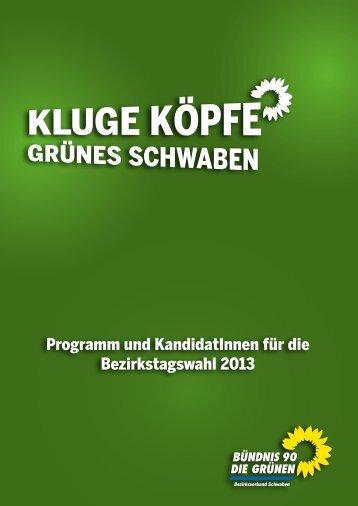 Programm und KandidatInnen (PDF) - GRÜNE im Bezirkstag ...
