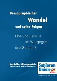 Ehe und Familie im Würgegriff des Staates - Senioren-Union NRW