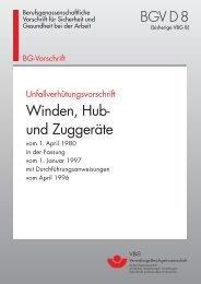BGV D 8 - Winden, Hub - MME Group