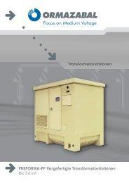 PREFORMA-PF Vorgefertigte Transformatorstationen - Ormazabal