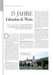 Das Zusammenwirken von Winzern und Literaten ... - Literatur & Wein