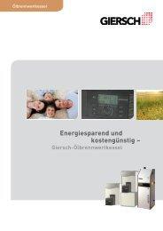 Energiesparend und kostengünstig – - Wendland Handels Agentur