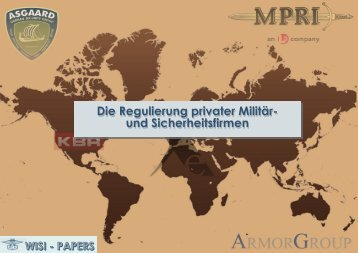 Die Regulierung privater Militär- und Sicherheitsfirmen