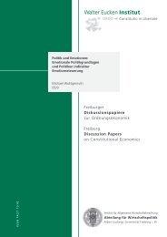 Quick Access - Abteilung für Wirtschaftspolitik und Ordnungstheorie ...