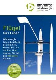 Flügel - Envento Windenergie