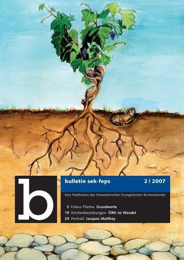 bulletin sek·feps 2 | 2007 - Schweizerischer Evangelischer ...