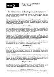 Neugier genügt, 27.07.2012 Service Garten - WDR 5